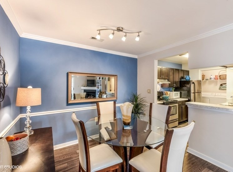 Separate Dining Area Off Breakfast Bar at Brittany Commons Apartments, Spotsylvania, Virginia